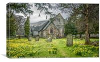 Church of Saint Patrick in Patterdale, Canvas Print
