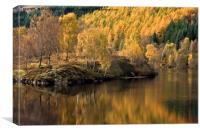 Autumnal Loch Tummel, Canvas Print
