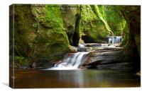 Finnich Gorge Waterfalls, Canvas Print