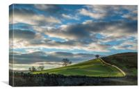 Daybreak over the Brecon Beacons, Canvas Print