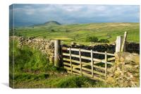 Across Ribblesdale to Pen y Ghent, Canvas Print