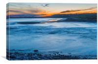 Sunset over Ogmore by Sea, Canvas Print