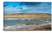 River Ogmore Estuary and Rainbow, Canvas Print