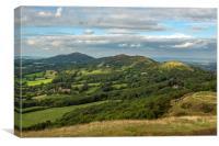 The Malvern Hills, Canvas Print