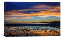 Evening Light at Llantwit Major Beach, Canvas Print