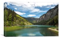 Le Lac de Montriond French Alps, Canvas Print