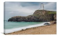 The Great Lighthouse on Llandwyn Island, Canvas Print