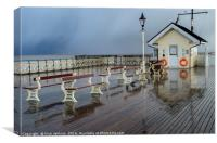 Hailstorm on Penarth Pier, Canvas Print