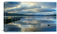 Windermere with Cloud Reflections, Canvas Print
