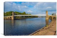 Wilford Suspension Bridge River Trent Nottingham, Canvas Print