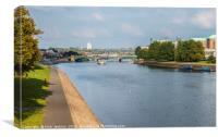 The River Trent at Nottingham, Canvas Print