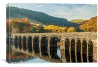 Garreg Ddu Dam Elan Valley Radnorshire Powys, Canvas Print