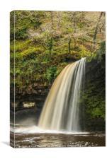 Scwd Gwladys Waterfall Winter, Canvas Print