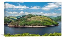 Llyn Brianne Reservoir in Summer, Canvas Print