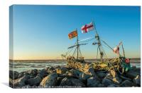 The Pirate Ship Hoylake Wirral, Canvas Print