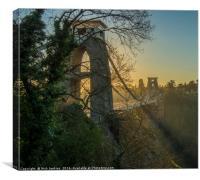 The Clifton Suspension Bridge Bristol, Canvas Print