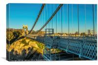 The Clifton Suspension Bridge Winter Evening, Canvas Print