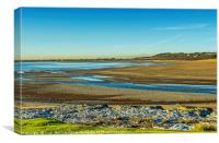 Ogmore by Sea and Beach, Canvas Print