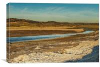 River Ogmore Estuary at Ogmore by Sea, Canvas Print