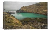 The Blue Lagoon at Abereiddy, Canvas Print