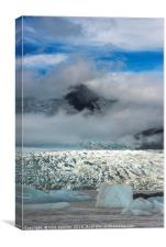 Fjarllsarlon Glacial Lake Iceland, Canvas Print