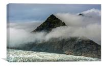 Pyramid Mountain Fjallsarlon Glacial Lake Iceland, Canvas Print