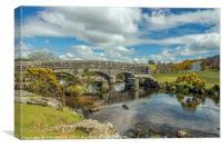 Bellever Clapper Bridge Dartmoor, Canvas Print