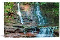 Pwll y Wrach Waterfall Black Mountains south Wales, Canvas Print