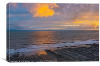 Evening Light on Nash Point Beach, Canvas Print