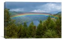 Rainbow Over Llyn Brianne Mid Wales, Canvas Print