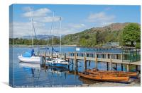 Windermere Lake at Waterhead Lake District, Canvas Print