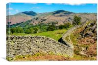 Towards the Fairfield Horseshoe from Silver How, Canvas Print