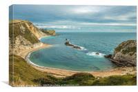 Man O'War Bay on the Dorset Coast, England, Canvas Print
