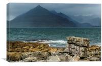 The Black Cuillin from Elgol Beach on Skye , Canvas Print