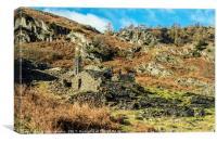Slate Quarry Ruins Tilberthwaite Lake District, Canvas Print