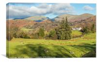 Across Langdale to the Fairfield Horseshoe, Canvas Print