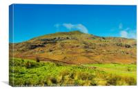 Coniston Old Man from Walna Scar Road Lakeland, Canvas Print