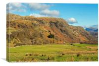 The Coniston Fells from Walna Scar Lake District, Canvas Print