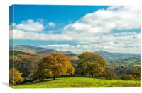 Sugarloaf Mountain Brecon Beacons, Canvas Print