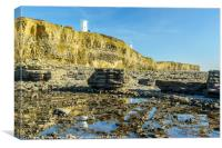 Nash Point Beach Glamorgan Heritage Coast, Canvas Print