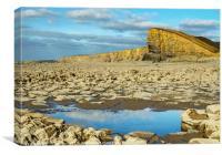 Nash Point Beach and Sphinx Rock Glamorgan Coast, Canvas Print