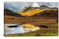 Langdale Pikes from Blea Tarn Lake District, Canvas Print
