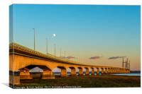 Second Severn Crossing Winter Evening, Canvas Print