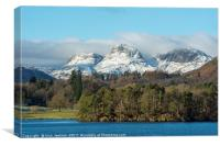 The Langdale Pikes Lake District, Canvas Print