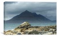 The Black Cuillin Hills from Elgol Skye, Canvas Print