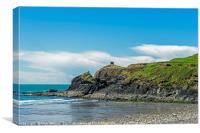 Abereiddi Beach Pembrokeshire Coast West Wales, Canvas Print