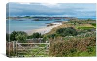 Tresco from St Martins in the Isles of Scilly, Canvas Print