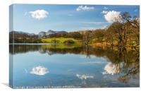 Loughrigg Tarn Lake District Cumbria, Canvas Print