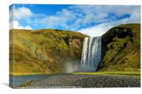 Skogafoss Waterfall Iceland, Canvas Print
