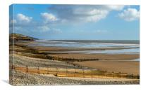 The Beach at Amroth Pembrokeshire , Canvas Print